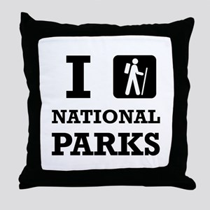 Hike National Parks Throw Pillow